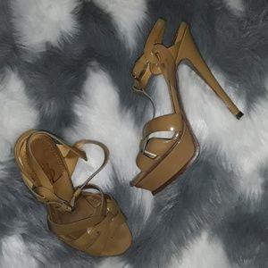 YSL patent leather platform heels